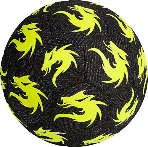 Monta Derby Star Street Soccer Ball–Denim/Neon