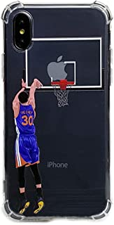 Basketball Stars Ultra Slim Crystal Clear Soft Transparent TPU Case Cover for Apple iPhone (Curry, 6+/6s+)