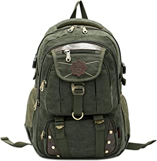 Rjj Fashion Casual Unisex Computer Backpack Outdoor Sports Hiking Backpack Large Capacity Multi-Pocket Exquisite (Color : Green)