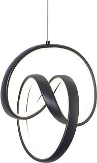 Modern LED Pendant Light, Black LED Chandelier Pendant...