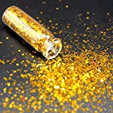 KHKJ 1 Bottle Light Gold Holographic Sequin Glitter Shimmer Diamond Eye Shiny Skin Highlighter Face...