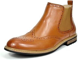 Bruno Marc Men's Bergen Leather Lined Oxfords/Chelsea Dress Ankle Boots