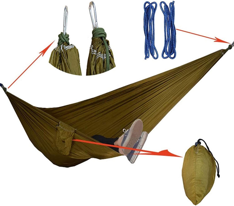 Ultralight Hammock Parachute Blanket Adult Outdoor Blanket Sleeping Ultra Light Swing Single Double Camping Leisure Hammock Travel Portable Hammock 270×140 cm Green