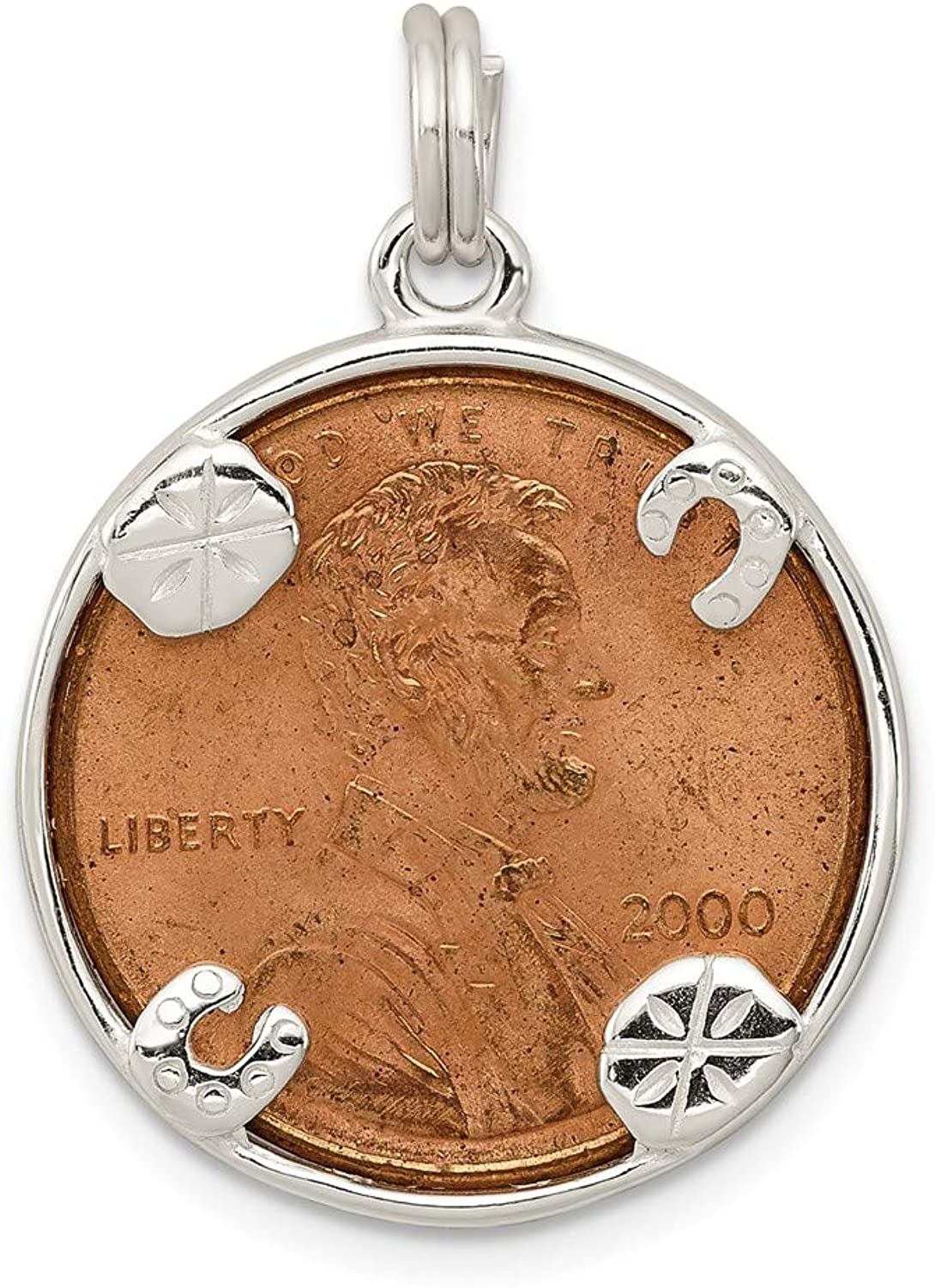 FB Jewels Solid Sterling Silver Penny Charm