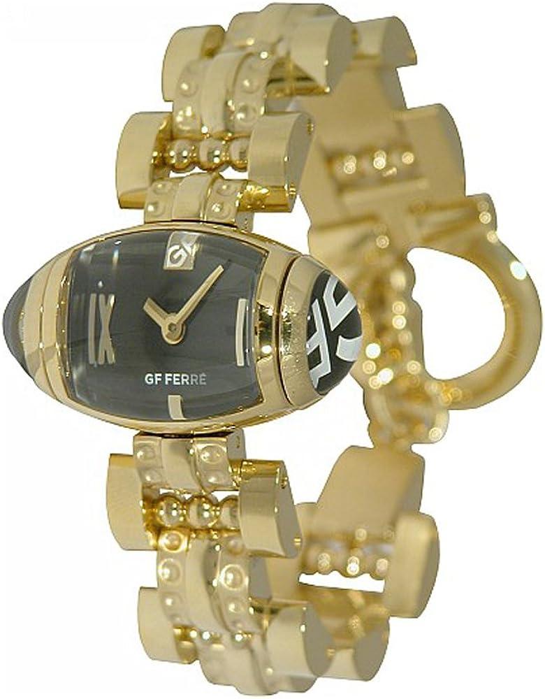 Gianfranco ferre` orologio da donna in acciaio inossidabile cinturico placcato GF 9009L