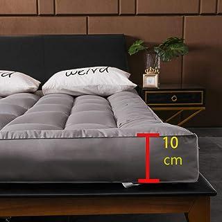 WJXBoos Hotel Acolchado Futón Cubre Colchón, Japonés Felpa Tatami Colchón Gruesas Anti-Slip Colchoneta De Dormir Suave Elástico Estera De Meditación-Gris 150x200cm(59x79inch)