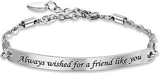 G-Ahora Always Wished for A Friend Like You Bracelet Friendship Bracelet BFF Jewelry