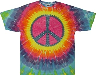 Peace Sign Tie Dye T Shirt- Pastel Color - Small to 3X