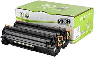 Renewable Toner Compatible MICR Toner Cartridge Replacement for HP 83A CF283A Laserjet Pro M125 M127fn M127fw (2-Pack)