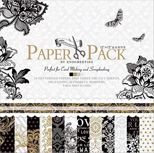 12 inch Vintage Paper Pack voor scrapbooking en kaarten maken Creative Metallic Scrapbook Paper, PS018