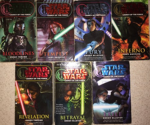 Star Wars Legacy of the Force 7 Book Series Set