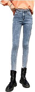 N\P Mujer De Cintura Alta Jeans De Mezclilla De La Señora Estiramiento Skinny Negro Pantalones
