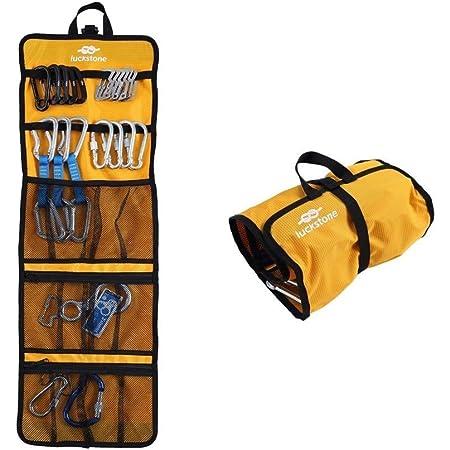 Bolsa enrollable para herramientas de escalada, resistente y práctica, bolsa enrollable para equipo de escalada como mosquetones (amarillo)