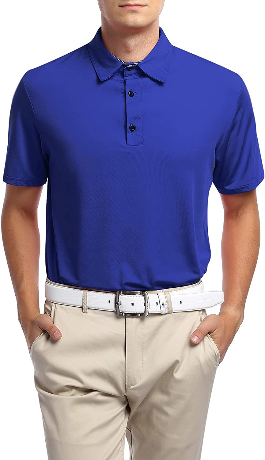 Yong Popularity Horse Men's Dry Fit Golf Sleeve Shirt Max 71% OFF Col Polo Short Casual