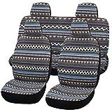 SHAKAR Bohemian Style Seat Covers Full Set- Delux Baja Blanket Car Seat Covers,5 Seats(boxi5)