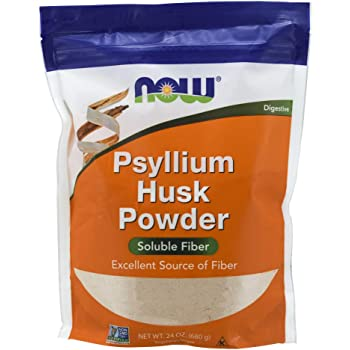 NOW Foods Supplements, Psyllium Husk Powder, Non-GMO Project Verified, Soluble Fiber, 24-Ounce