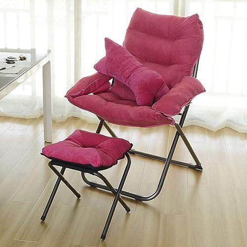 Lazy Chair Décontracté Salon pliant bureau portant forte (avec repose-pieds) (Couleur   A)