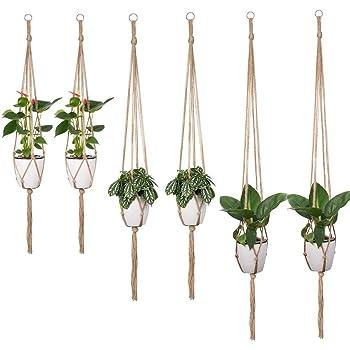 H/ängepflanztopf Blumentopf Pflanzen Halter Pflanzenhalter F/ür Innen Au/ßen Decken Balkone Wanddekoration Blumenampel Innen