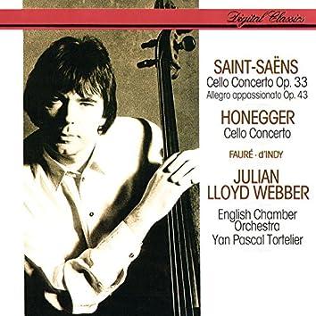 Saint-Saëns: Cello Concerto No. 1; Allegro Appassionato / Honegger: Cello Concerto / Fauré: Elégie / D'Indy: Lied