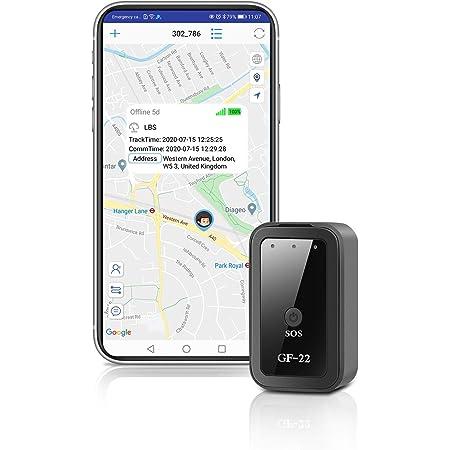 QZT Mini Localizzatore GPS, Piccolo Portatile con Localizzatore di Monitoraggio in Tempo Reale Intelligente Anti Tracker Perso per Bambini Animali Domestici - Controllo App Tramite Telefono Cellulare