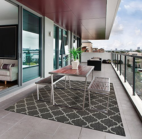Gertmenian Prime Seneca Contemporary Outdoor Furniture Rug, 8x10 Large, Brown