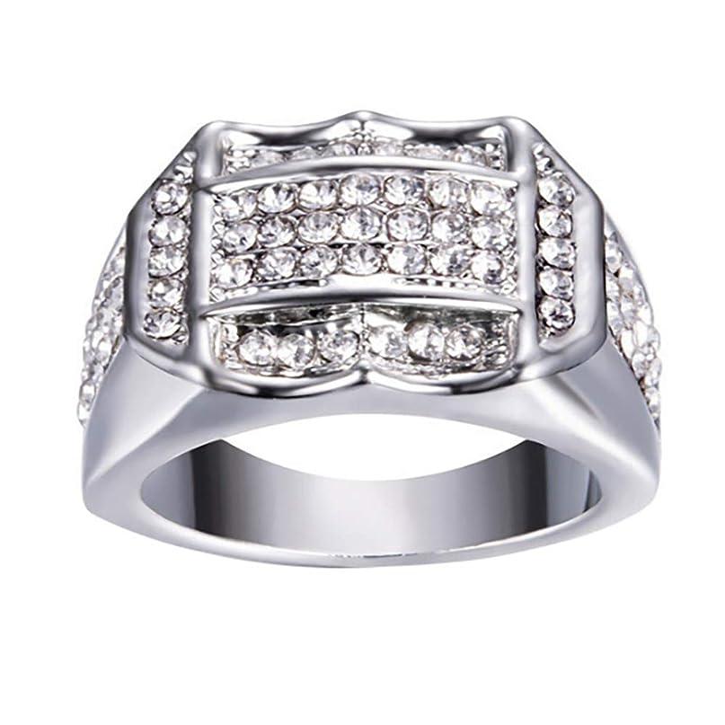 復活副産物モッキンバードFeitengtd リング ダイヤモンドインサート メンズ リング ビジネスリング 誕生日プレゼント ギフト