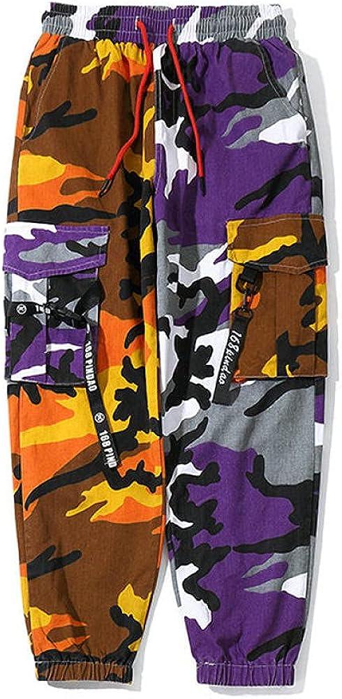 Streetwear Jogger Pants Men Camouflage Side-Pocket Ribbons Mens