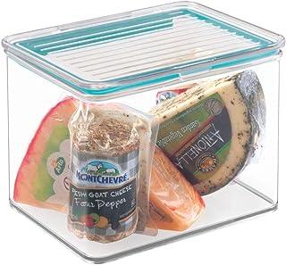 mDesign boîte de Rangement avec Couvercle – Rangement frigo en Plastique pour Fromage, Fruits, légumes, etc. – boîte Alime...
