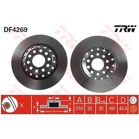 Trw Automotive Aftermarket Df2586 Bremsscheibe Paar Auto