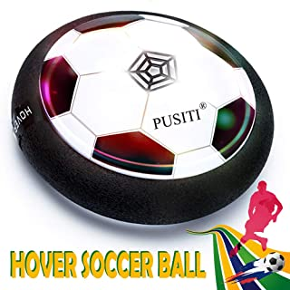 PUSITI Kids Hover Ball Toys 7 Inch Soccer Ball with LED Light and Music Foam Bumper Air Hover Ball for Indoor and Outdoor Game for Teens Boys and Girls Child Age 3 4 5 6 7 8 and Up Sport Toys