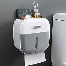 WC-rolhouder, zelfklevend waterdicht, wandmontage, badkamer, keukenpapierhouder-grijs