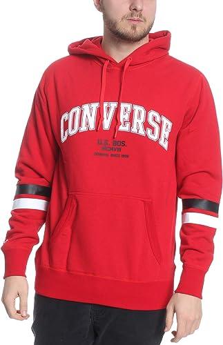 Converse - Sweat-Shirt à Capuche - Homme Rouge Rouge