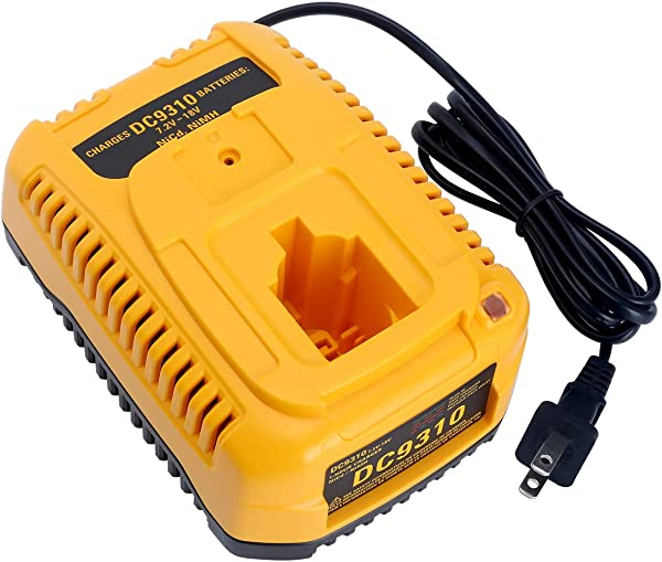 Biswaye DC9310 电池充电器适用于 DEWALT 7 2V 18V NiCad NiMh 电池 DC9096 DC9098 DC9091 DC9071 DW9062 DW9057 DC9099 DW9099 DW9072 DW9091 DW9094 DW9061