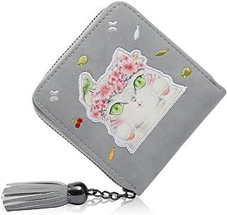 財布 ミニ レディース  二つ折り  小銭入れ  コインケース  カードケース  ねこ 手乗り財布  小さい財布  人気  かわいい コンパクト  友達 家族にプレゼント 金運アップ  たくさん収納 ウォレット ピンク ブルー グレー ブラック