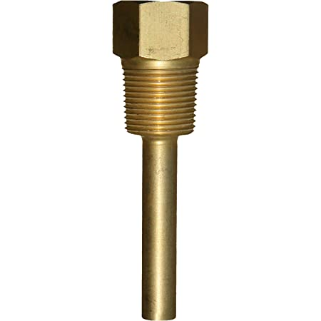 1//2 NPT Connection Trerice 3-3G2 Thermowells for Econo Thermometers Brass 4 Length