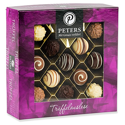Peters Trüffel Auslese - 300g köstliche Trüffel und Pralinen mit Alkohol   Geschenk für Frauen und Männer