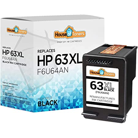 HouseOfToners Remanufactured Ink Cartridge Replacement for HP 63XL F6U64AN (1 Black)