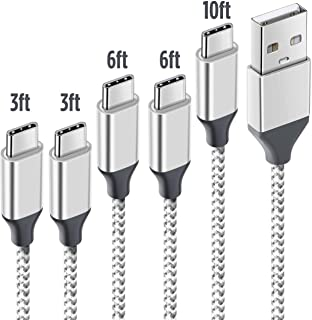 USB Type C ケーブル 【5本セット1m +1m+2m+2m+3m 】高耐久 急速充電 高速データ転送 Type-C機器充電 ナイロン編み 高級USB Cケーブル】Type-C機器対応