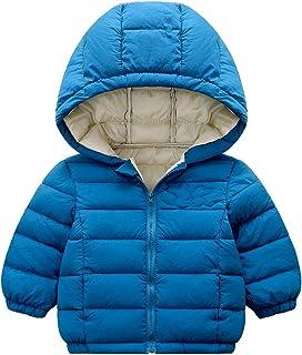 Minizone Niños Bebé Chaqueta con Capucha Abrigo de Invierno Ligeras Traje de Invierno