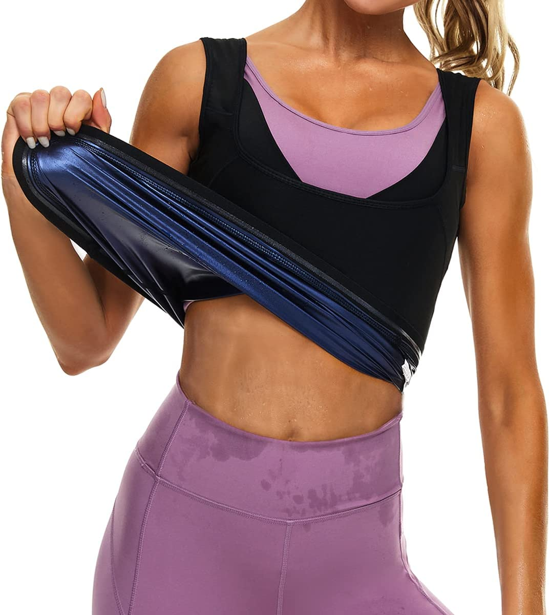 Lushforest Sauna Vest for Women Sweat Top Workout Max 71% OFF W Premium Tank SEAL limited product