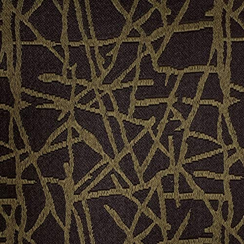 Decora Furnishings Jacquard Material Furnishing Fabric for Sofa, Curtains, Cushion, Chair and Craft Available in Running Meter Length - 137 cms Width - M14 - Brown Colour