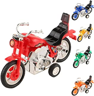 Elevin(TM)👍👍 Mini Motorcycle Toy Pull Back Diecast Motorcycle Early Model Educational Toys