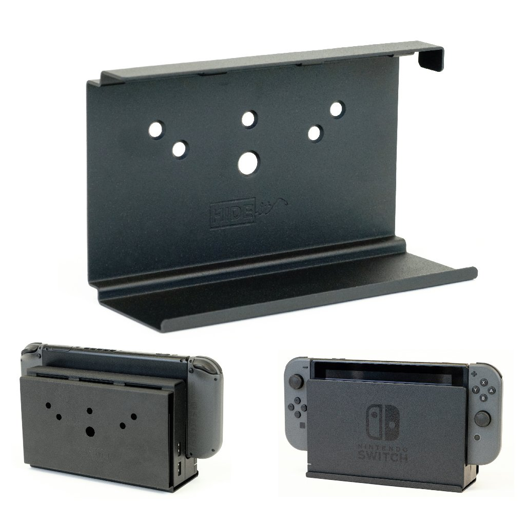 HIDEit Challenge the lowest price of Japan ☆ Mounts Switch Nintendo Wall Max 74% OFF Black Mount Mou Steel