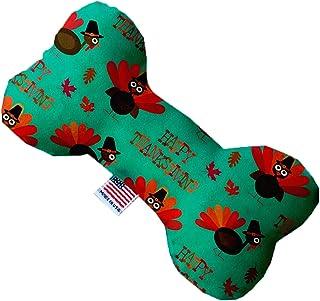 "Mirage Pet Products Plush Bone Dog Toys (Happy Thanksgiving, 6"" Bone)"