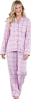 PajamaGram Soft Flannel Pajamas Women - Button Front Pajamas Women