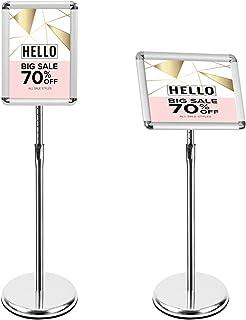 Mutualsign Porte affiche A4 Présentoir sur pied, Support pour affiche, Présentoir publicitaire remplaçable, Support de sig...
