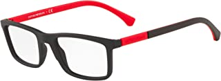 Emporio Armani EA 3152 Matte Black Red 55/20/143 men Eyewear Frame