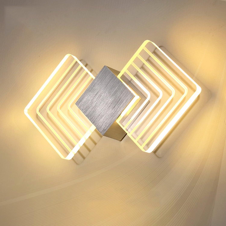 Firsthgus E27 Wandleuchte Led Nachttischlampe Wohnzimmer Schlafzimmer Balkon Gang Treppenlicht Nordic Minimalist Moderne Wandleuchte, Matt Silber Warmwei