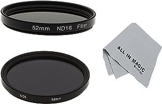 Filtres UV FLD pour Nikon D4 D3X D800 D700 D600 D300S D300 D7100 D7000 D5200 D5100 D5000 D3200 D3100 D3000 D90 D80 D70 D60 D50 D40 D7000 D90 Panasonic Lumix LF135 CPL XCSOURCE Pare-soleil pour objectif 52mm