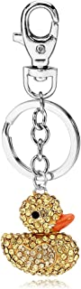 Liavy's Classic Duck Charm Fashionable Keychain - Sparkling Crystal - Yellow